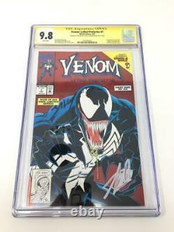 Venom Lethal Protector #1 Signed Stan Lee Mark Bagley CGC 9.8 RARE HTF