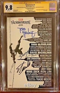 Venomverse 1 NYCC Skyling Variant SS CGC 9.8 Signed 4x, STAN LEE, McFarlane