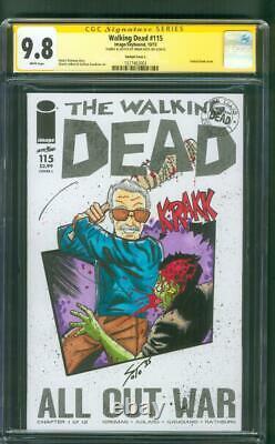 Walking Dead 115 CGC 9.8 SS Stan Lee as Negan w Lucille SOTO Original art sketch