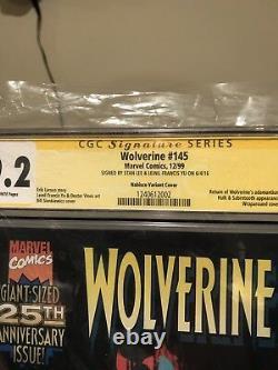 Wolverine 145 variant Nabisco Cgc 9.2 Stan Lee Signed