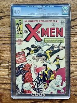 X-MEN #1 1963 CGC 4.0 OWithW 1ST X-MEN, 1ST MAGNETO & SIGNED BY STAN LEE