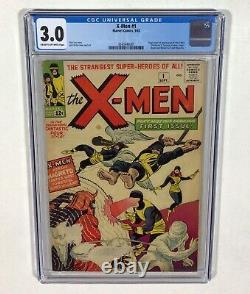 X-MEN #1 CGC 3.0 MEGA KEY! No Chipping! Centered BEAUTY! (1st X-Men) 1963 Marvel