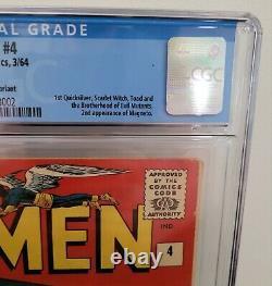 X-MEN #4 (1964) CGC 6.0 Fine 1st Scarlet Witch, Quicksilver, 2nd Magneto Marvel