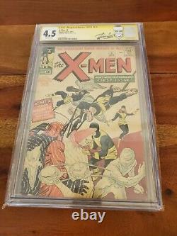 X-Men #1 1963 CGC 4.5 Signed Stan Lee Label 1st Cyclops Jean Grey Magneto Beast