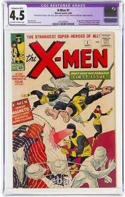 X-Men #1, 9/1963, CGC 4.5 R OWithWP, Stan Lee, Jack Kirby, First Print USA Edition