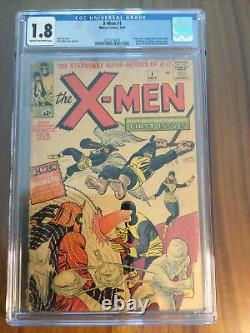 X-Men #1 CGC 1.8 1st App X-Men, Magneto, Professor X Never Pressed / Cleaned
