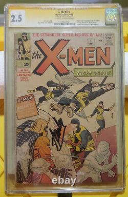 X-Men 1963 #1 CGC 2.5 Signed Stan Lee 1st Magneto, Prof X, Cyclops, Jean Grey