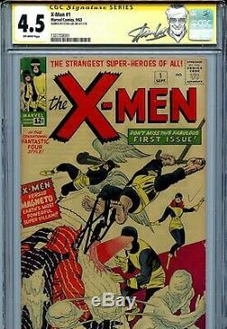 X-Men Vol 1 1 CGC 4.5 SS 1963 Stan Lee Uncanny Cyclops Jean Grey Iceman Angel