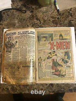 X-men 1 1963 Complete! 1st App Of Magneto Xmen No Cgc Marvel Stan Lee 1.5 Grade