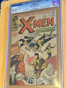 X-men #1 1963 Very Good 4.0 = 1st X-men, 1st Magneto & Signed By Jack Kirby