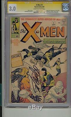 X-men #1 Cgc 3.0 Ss Signed Stan Lee