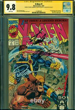 X-men #1 Cgc 9.8 3x Signed Ss By Stan Lee, Jim Lee & Claremont! Wolverine Cover