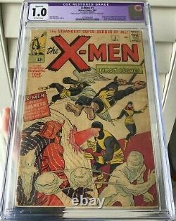 X-men 1 cgc 1.0 1963 and MORE! Stan Lee, Wolverine, Deadpool, Sabertooth